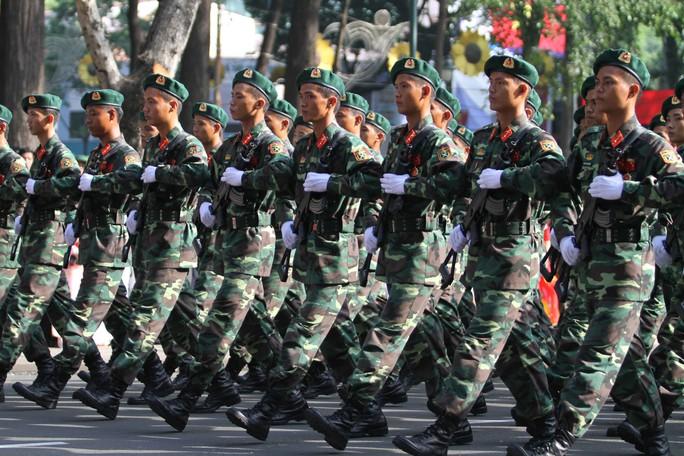 Các chiến sĩ tham gia buổi duyệt diễu binhẢnh: HOÀNG TRIỀU
