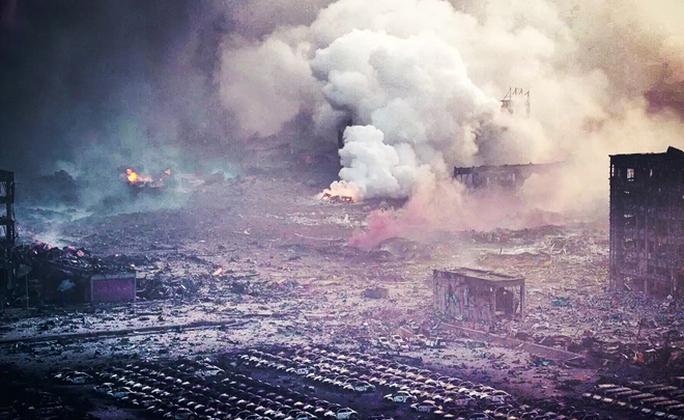 Khung cảnh bình địa sau vụ nổ. Ảnh: Beijing Youth Daily