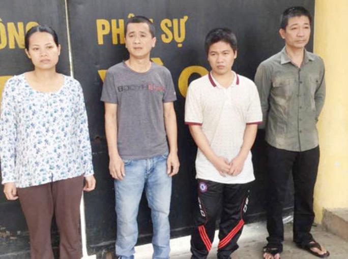 4 đối tượng trộm cắp đang bị giam giữ tại  Công an Thanh Hóa