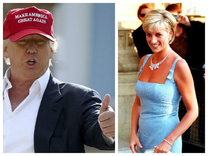 Tỉ phú Donald Trump xem Công nương Diana là. Ảnh: Focusnews.com