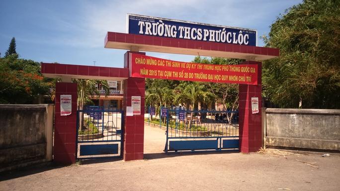 Trường THCS xã Phước Lộc bất ngờ cúp điện trong buổi thi đầu tiên