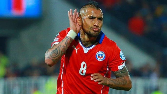 Vidal thi đấu xuất sắc giúp Chile vô địch Copa Armerica 2015