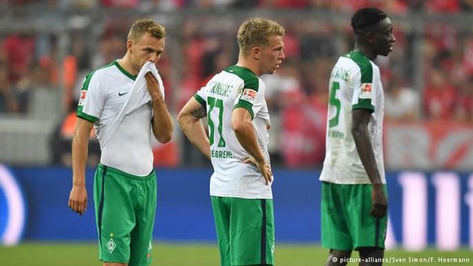 Bremen đang xếp bảng Bundesliga sau 4 vòng