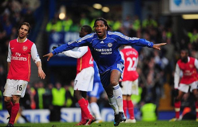 Drogba thường ghi bàn mỗi lần gặp Arsenal