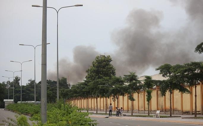 Khoảng 16 giờ 45 ngày 25-9, một đám cháy lớn bất ngờ xảy ra tại khu vực làng đại học Thủ Đức (phường Đông Hoà, thị xã Dĩ An, Bình Dương).