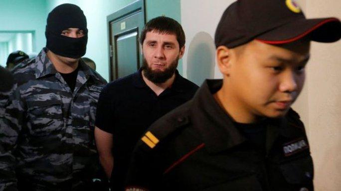Zaur Dadayev (giữa) là thành viên một lực lượng quân đội ưu tú của Chechnya. Ảnh: REUTERS