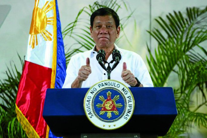 Tổng thống Philippines Rodrigo Duterte. Ảnh: INQUIRER