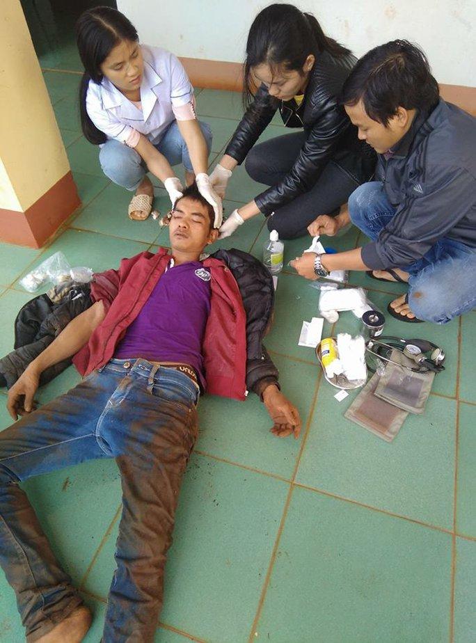 Hung thủ trộm 5 con chó bị thương ở vùng đầu - Ảnh công an xã Ia Kênh cung cấp