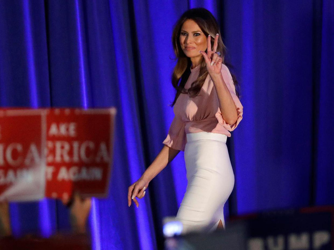 Bà Melania Trump. Ảnh: AP