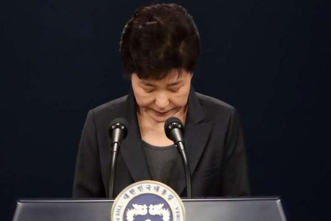 Bà Park phát biểu trên truyền hình tối 4-11. Ảnh: EPA