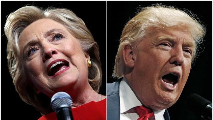 Hai ứng viên sáng giá Donald Trump (phải) và Hillary Clinton. Ảnh: ABC.NET.AU