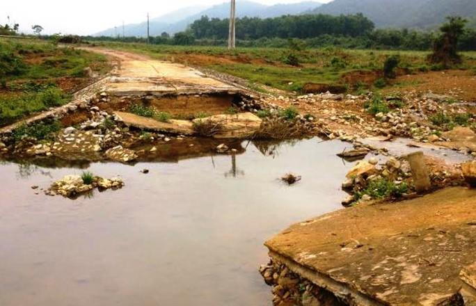 Đoạn tràn qua xã Thanh Kỳ, huyện Như Thanh, tỉnh Thanh Hóa, nơi ông Tẩm bị lũ cuốn dẫn tới chết đuối