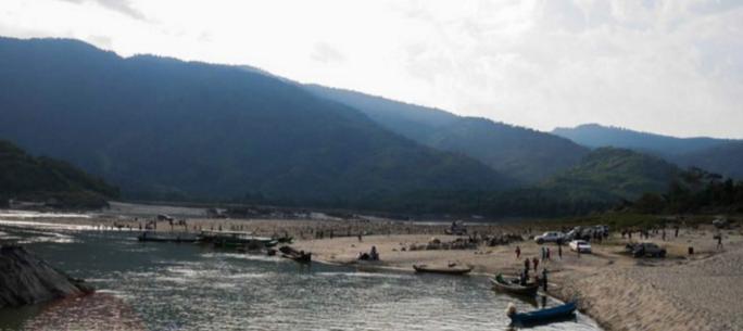 Khu vực đập Myitsone chụp tháng 12-2015. Ảnh: THE IRRAWADDY