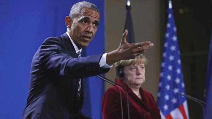 Tổng thống Obama thăm Đức hôm 17-11. Ảnh: AP