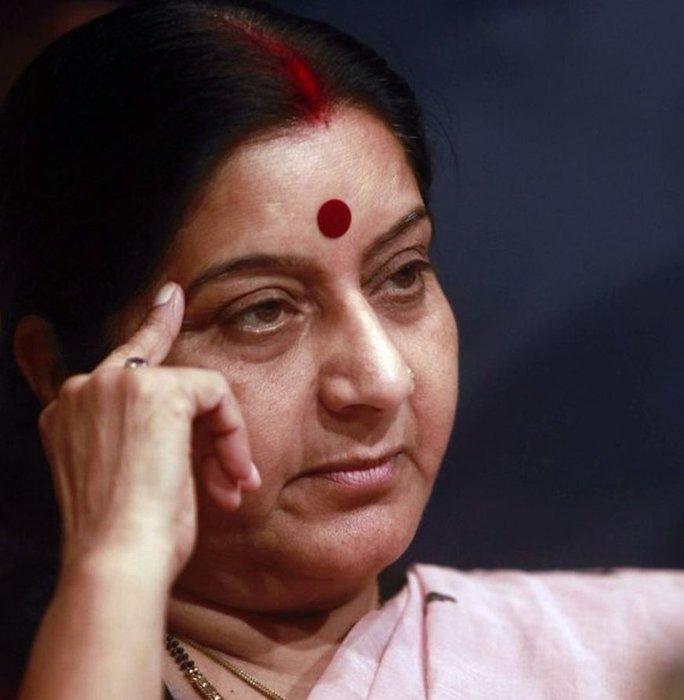 Nữ Ngoại trưởng Ấn Độ Sushma Swaraj. Ảnh: AP