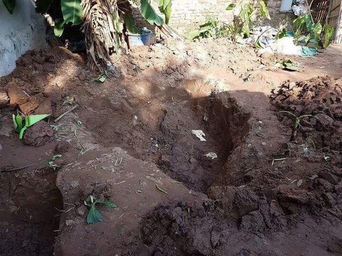 Nơi đào được thi thể hai bé gái