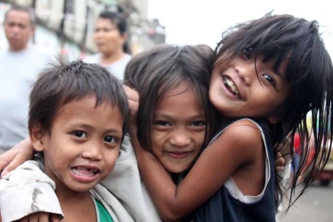 Trẻ em Philippines. Ảnh: PINTEREST