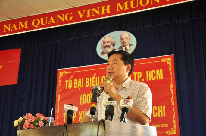 Bí thư Thành ủy TP HCM Đinh La Thăng tại buổi tiếp xúc cử tri huyện Củ Chi ngày 24-11