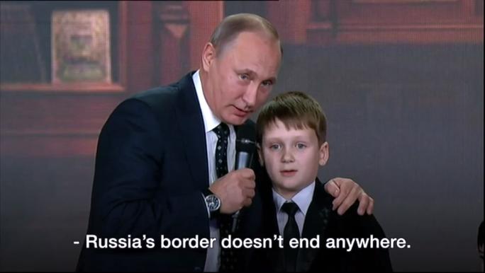 Ông Putin: Biên giới Nga không kết thúc tại đâu cả. Ảnh: BBC