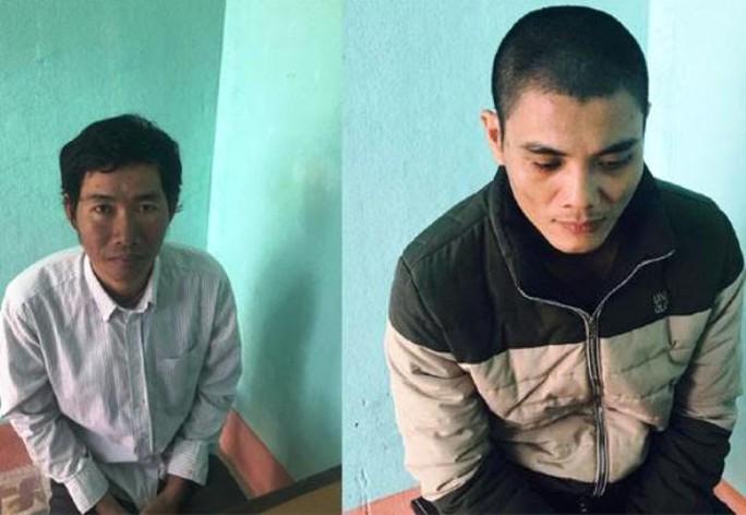 Lê Văn Dinh và Đặng Thanh Tuấn tại cơ quan công an