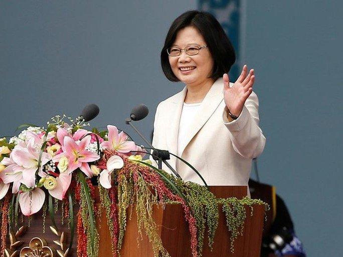 Nhà lãnh đạo Đài Loan Thái Anh Văn trong một bài phát biểu tại Đài Bắc. Ảnh: REUTERS