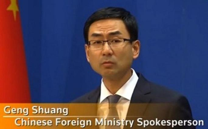 Phát ngôn viên Bộ Ngoại giao Trung Quốc Geng Shuang. Ảnh: SABC