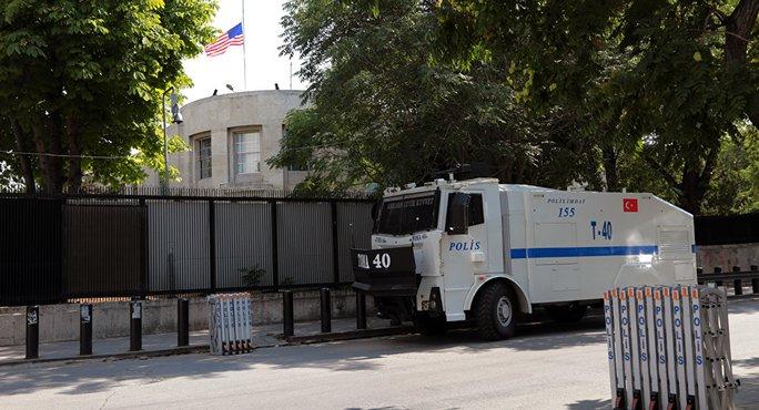 Đại sứ quán Mỹ ở thủ đô Ankara. Ảnh: AP