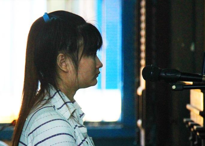 Bị cáo Phan Thị Mỹ Tiên tại phiên tòa.
