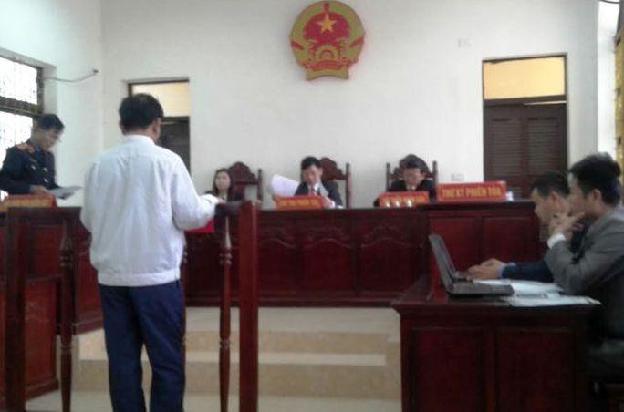 Phiên sơ thẩm được TAND huyện Hậu Lộc xử kín