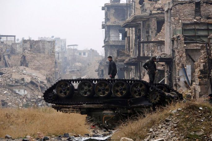 TP Aleppo hiện nằm trong tay quân đội Syria. Ảnh: REUTERS