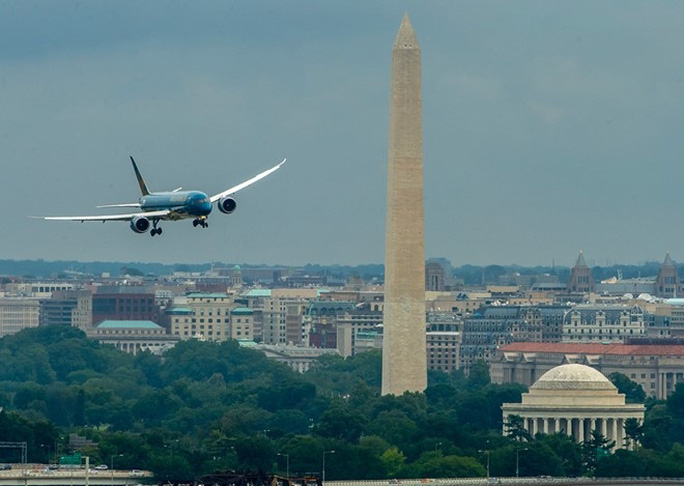 Máy bay Boeing 787-9 của Vietnam Airlines tại Mỹ Ảnh: Ngọc Hằng