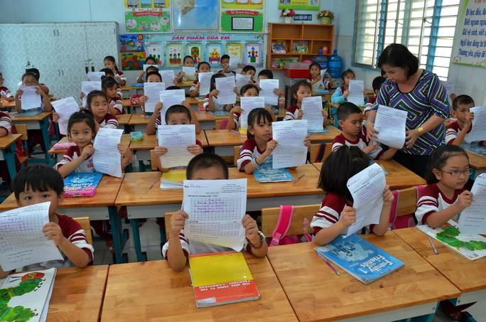 Một giờ học tiếng Anh của học sinh tiểu học tại TP HCM Ảnh: TẤN THẠNH