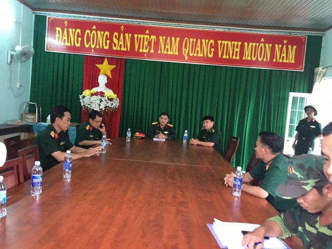 Bộ Chỉ huy quân sự tỉnh họp bàn tiếp cận hiện trường