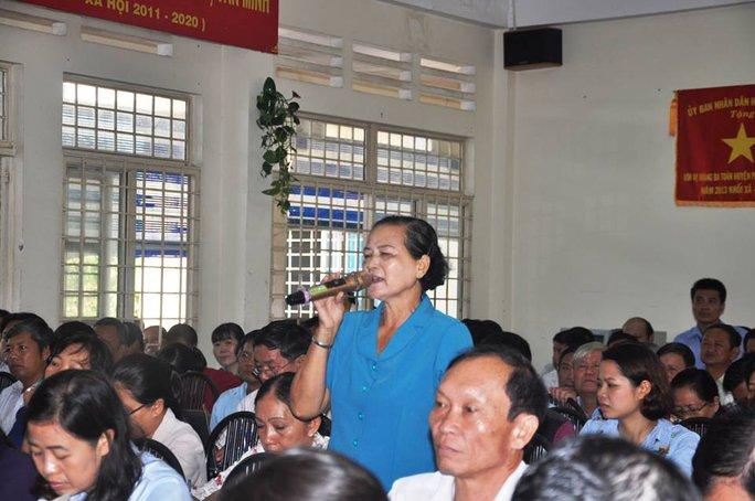 Cử tri Võ Thị Ánh Tuyết hỏi vì sao ô nhiễm đã lâu nhưng huyện Củ Chi không giải quyết