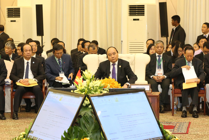 Thủ tướng Nguyễn Xuân Phúc tại Hội nghị Cấp cao CLV 9 Ảnh: TTXVN