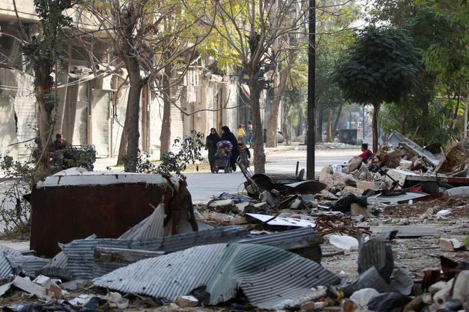 Phía Đông TP Aleppo do quân nổi dậy kiểm soát. Ảnh: REUTERS