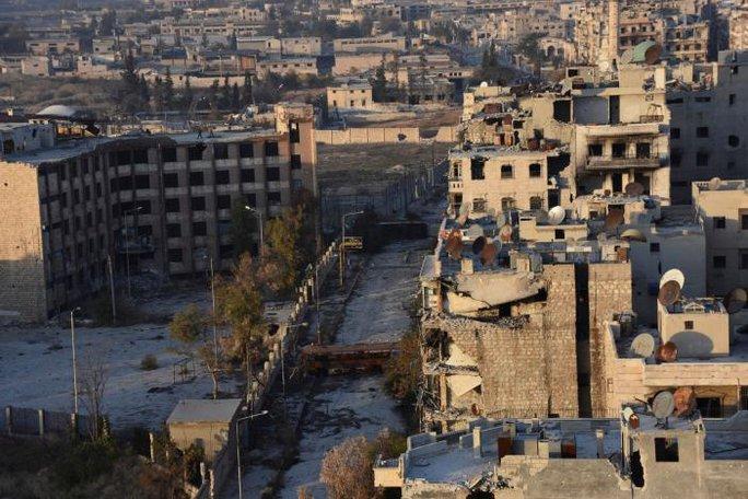 Khu phố al-Sakhour. Ảnh: SANA