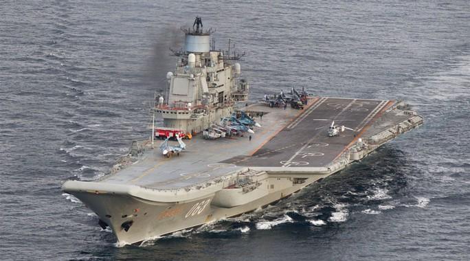 Tàu sân bay Đô đốc Kuznetsov. Ảnh: REUTERS