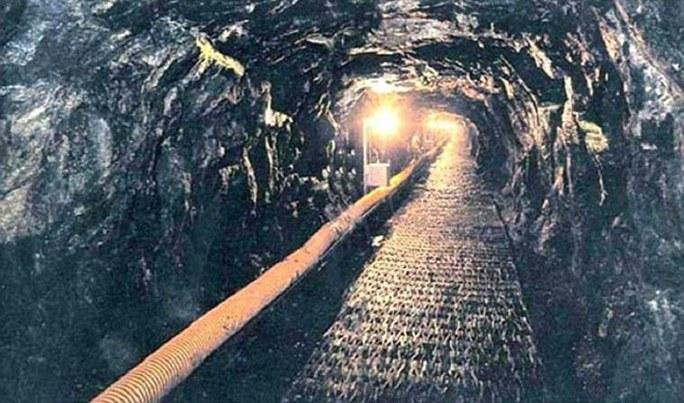 Đoạn đường hầm tìm thấy vào tháng 10-1978. Ảnh: DAILY MAIL