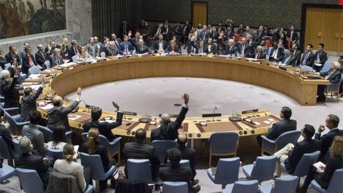 Hội đồng Bảo an LHQ vừa bỏ phiếu thông qua nghị quyết chỉ trích Israel. Ảnh: AP