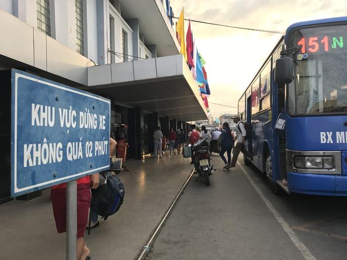 Đại diện Bến xe Miền Tây cho biết đã lên kế hoạch tăng cường xe buýt để giải tỏa hành khách nếu xảy ra tình trạng ùn ứ