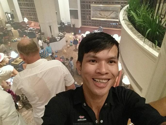Nghi can Nguyễn Thành Dũng, người bị cáo buộc liên quan đến nhiều clip hành hạ trẻ em ở Campuchia.