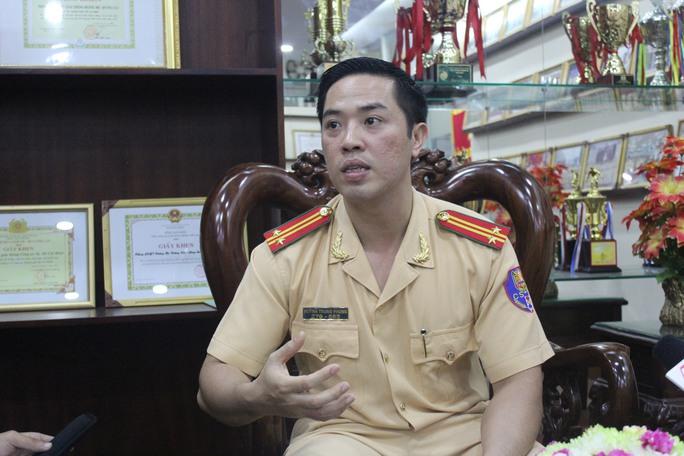 Trung tá Huỳnh Trung Phong (37 tuổi) vừa được bổ nhiệm lên chức Trưởng phòng PC67.