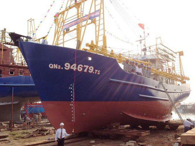 Một tàu vỏ thép đóng mới ở tỉnh Quảng Nam theo Nghị định 67