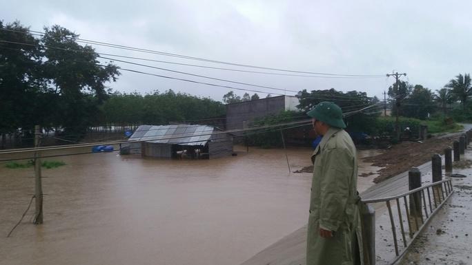 Có những ngôi nhà bị ngập sâu hơn 2m