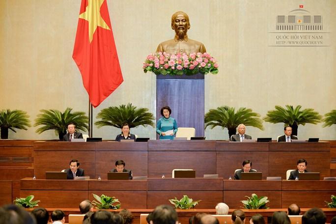 Chủ tịch QH Nguyễn Thị Kim Ngân phát biểu chốt lại phiên chất vấn - Ảnh: Quochoi.vn