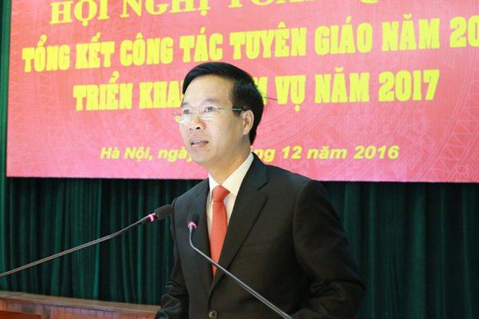 Trưởng Ban Tuyên giáo TƯ Võ Văn Thưởng
