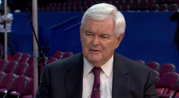 Cựu Chủ tịch Hạ viện Newt Gingrich. Ảnh: CBS NEWS