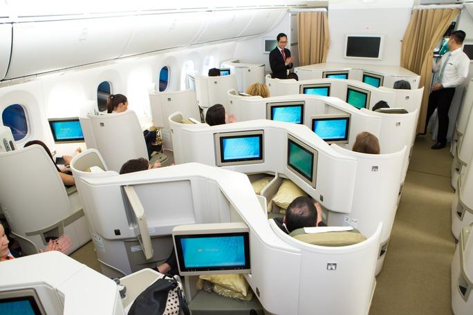 Tiện nghi hiện đại trên máy bay Boeing 787