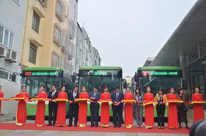 Sau gần 4 năm tuyến xe buýt nhanh Kim Mã - Yên Nghĩa chính thức đi vào hoạt động